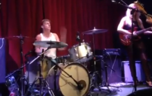 Shot of Mark Feldman Taking a Drum Solo with MANCIE